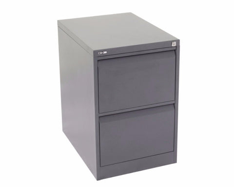 Rapidline GO 2 Drawer Filing Cabinet - Graphite Ripple Storage Units Dunn Furniture - Online Office Furniture for Brisbane Sydney Melbourne Canberra Adelaide