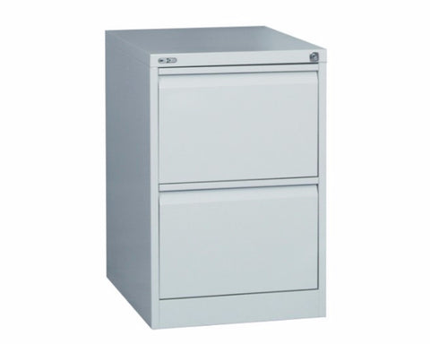 Rapidline GO 2 Drawer Filing Cabinet - Silver Grey Storage Units Dunn Furniture - Online Office Furniture for Brisbane Sydney Melbourne Canberra Adelaide
