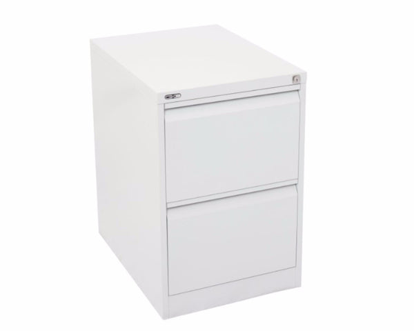 Rapidline GO 2 Drawer Filing Cabinet - White Satin Storage Units Dunn Furniture - Online Office Furniture for Brisbane Sydney Melbourne Canberra Adelaide