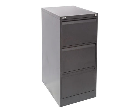 Rapidline GO 3 Drawer Filing Cabinet - Black Ripple Storage Units Dunn Furniture - Online Office Furniture for Brisbane Sydney Melbourne Canberra Adelaide