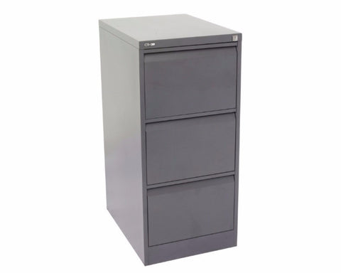 Rapidline GO 3 Drawer Filing Cabinet - Graphite Ripple Storage Units Dunn Furniture - Online Office Furniture for Brisbane Sydney Melbourne Canberra Adelaide