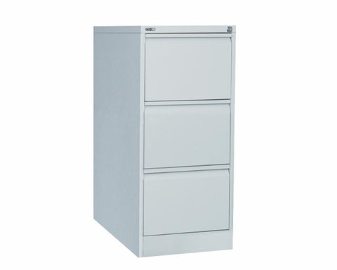 Rapidline GO 3 Drawer Filing Cabinet - Silver Grey Storage Units Dunn Furniture - Online Office Furniture for Brisbane Sydney Melbourne Canberra Adelaide