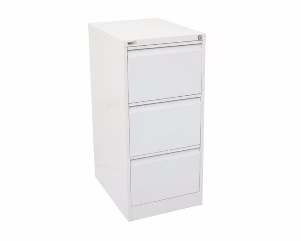 Rapidline GO 3 Drawer Filing Cabinet - White Satin Storage Units Dunn Furniture - Online Office Furniture for Brisbane Sydney Melbourne Canberra Adelaide