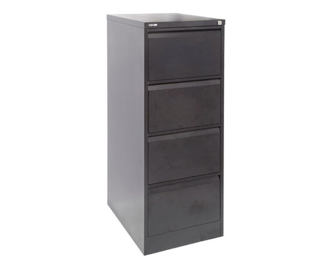 Rapidline GO 4 Drawer Filing Cabinet - Black Ripple Storage Units Dunn Furniture - Online Office Furniture for Brisbane Sydney Melbourne Canberra Adelaide