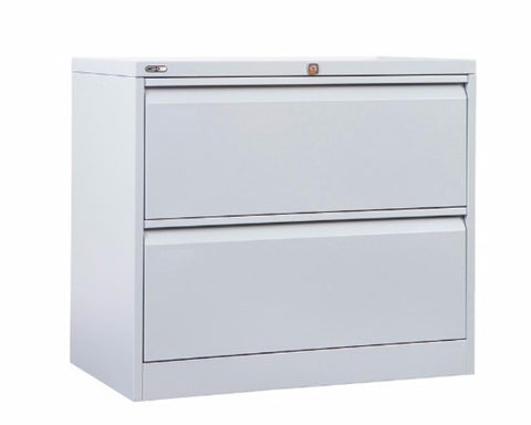 Rapidline GO 2/3/4 Drawer Lateral Filing Cabinet - Silver Grey Storage Units Dunn Furniture - Online Office Furniture for Brisbane Sydney Melbourne Canberra Adelaide
