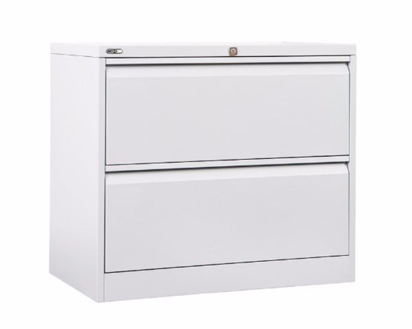 Rapidline GO 2/3/4 Drawer Lateral Filing Cabinet - White Satin Storage Units Dunn Furniture - Online Office Furniture for Brisbane Sydney Melbourne Canberra Adelaide