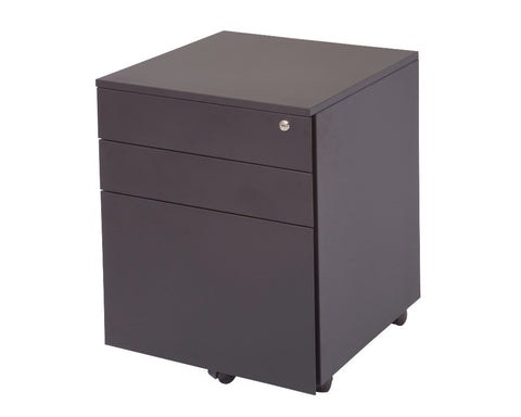 Rapidline 3 Drawer Metal Mobile Pedestal - Black Mobile Storage Units Dunn Furniture - Online Office Furniture for Brisbane Sydney Melbourne Canberra Adelaide