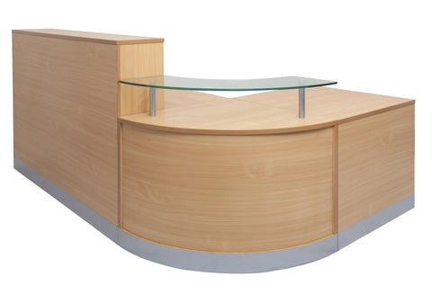 Rapidline Flow Reception Counter Reception Dunn Furniture - Online Office Furniture for Brisbane Sydney Melbourne Canberra Adelaide