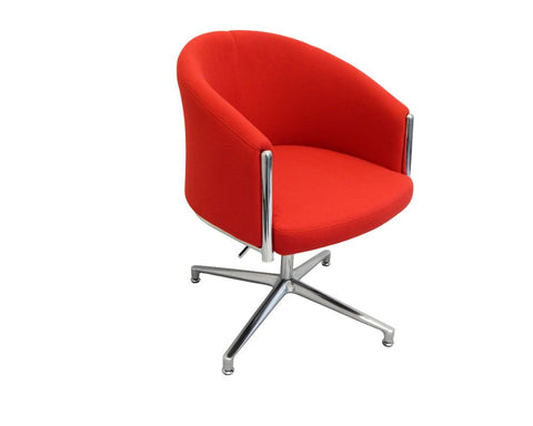 Rapidline Splash Club Office Lounge Chair Red Lounge Chairs Dunn Furniture - Online Office Furniture for Brisbane Sydney Melbourne Canberra Adelaide