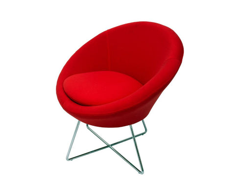 Rapidline Splash Cone Office Lounge Chair Red Lounge Chairs Dunn Furniture - Online Office Furniture for Brisbane Sydney Melbourne Canberra Adelaide