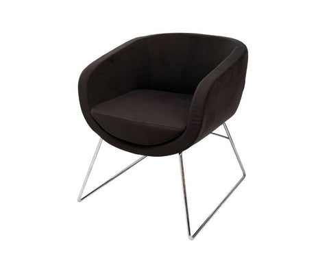 Rapidline Splash Cube Office Lounge Chair Charcoal Lounge Chairs Dunn Furniture - Online Office Furniture for Brisbane Sydney Melbourne Canberra Adelaide