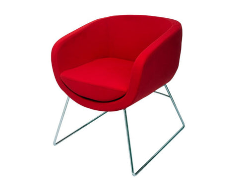 Rapidline Splash Cube Office Lounge Chair Red Lounge Chairs Dunn Furniture - Online Office Furniture for Brisbane Sydney Melbourne Canberra Adelaide