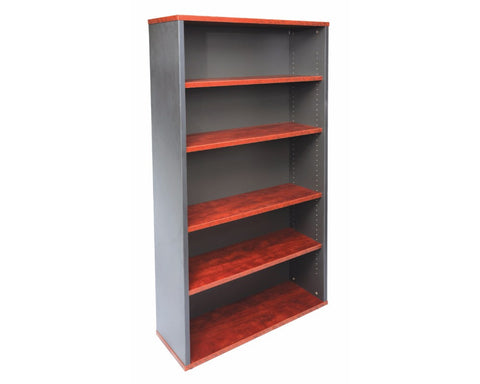 Rapidline Rapid Manager Bookcase - Appletree/Ironstone Storage Units Dunn Furniture - Online Office Furniture for Brisbane Sydney Melbourne Canberra Adelaide
