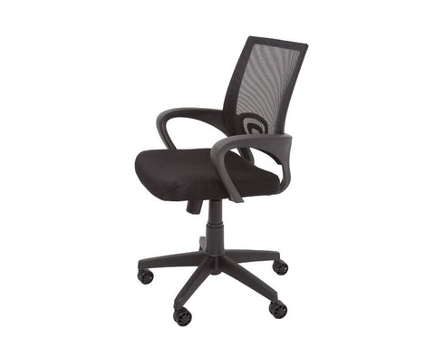 Rapidline Vesta Mesh Back Operator Chair With Arms Black Task Chairs Dunn Furniture - Online Office Furniture for Brisbane Sydney Melbourne Canberra Adelaide