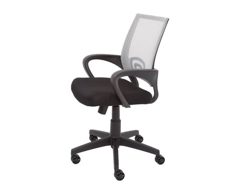 Rapidline Vesta Mesh Back Operator Chair With Arms Silver Task Chairs Dunn Furniture - Online Office Furniture for Brisbane Sydney Melbourne Canberra Adelaide