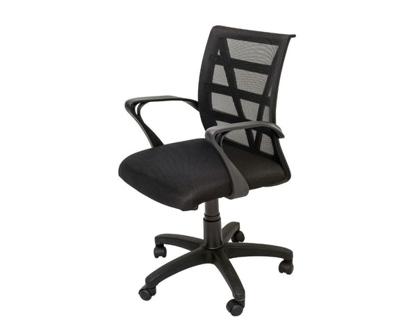 Rapidline Vienna Mesh Back Operator Chair Black Task Chairs Dunn Furniture - Online Office Furniture for Brisbane Sydney Melbourne Canberra Adelaide