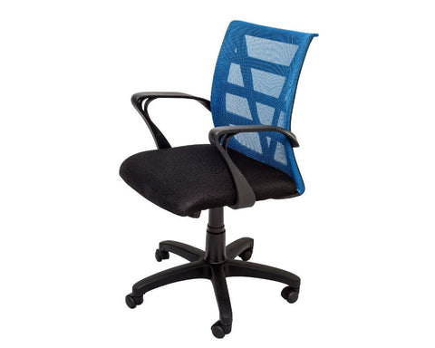 Rapidline Vienna Mesh Back Operator Chair Blue Task Chairs Dunn Furniture - Online Office Furniture for Brisbane Sydney Melbourne Canberra Adelaide