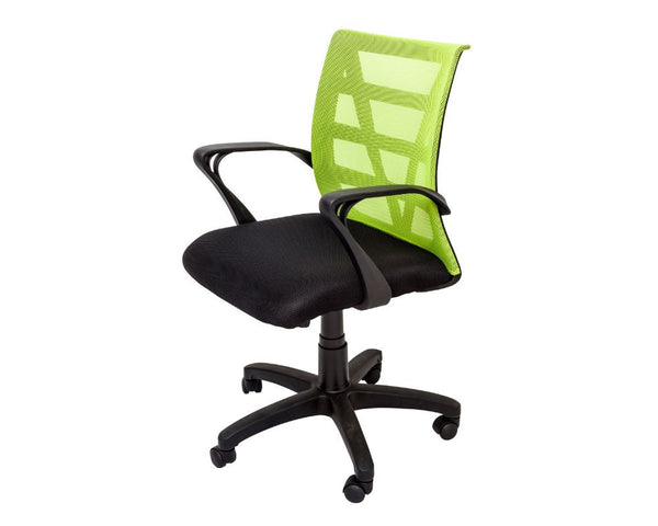 Rapidline Vienna Mesh Back Operator Chair Lime Task Chairs Dunn Furniture - Online Office Furniture for Brisbane Sydney Melbourne Canberra Adelaide