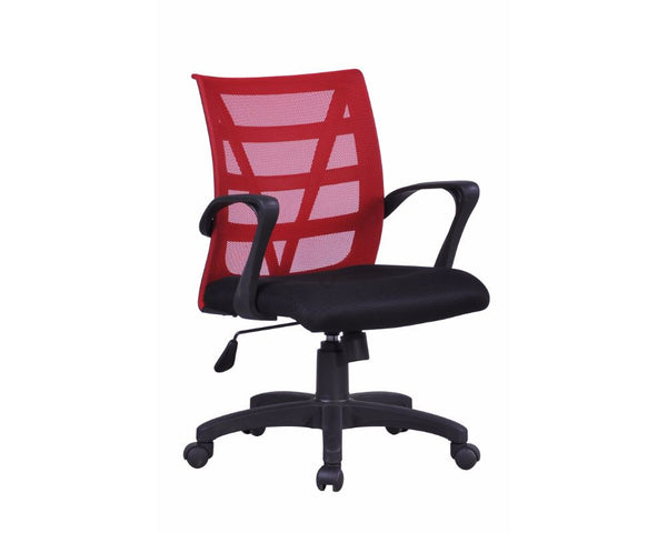 Rapidline Vienna Mesh Back Operator Chair Red Task Chairs Dunn Furniture - Online Office Furniture for Brisbane Sydney Melbourne Canberra Adelaide