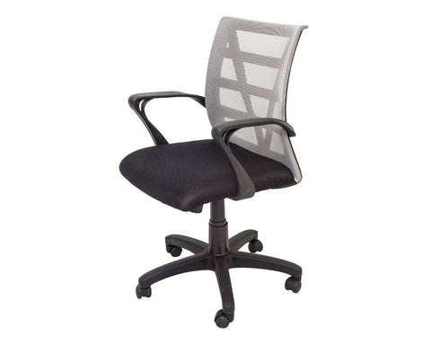 Rapidline Vienna Mesh Back Operator Chair Silver Task Chairs Dunn Furniture - Online Office Furniture for Brisbane Sydney Melbourne Canberra Adelaide