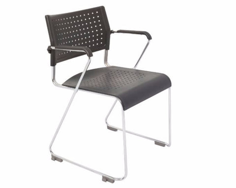 Rapidline Wimbledon With Arms Visitor Chair Visitor Chairs Dunn Furniture - Online Office Furniture for Brisbane Sydney Melbourne Canberra Adelaide