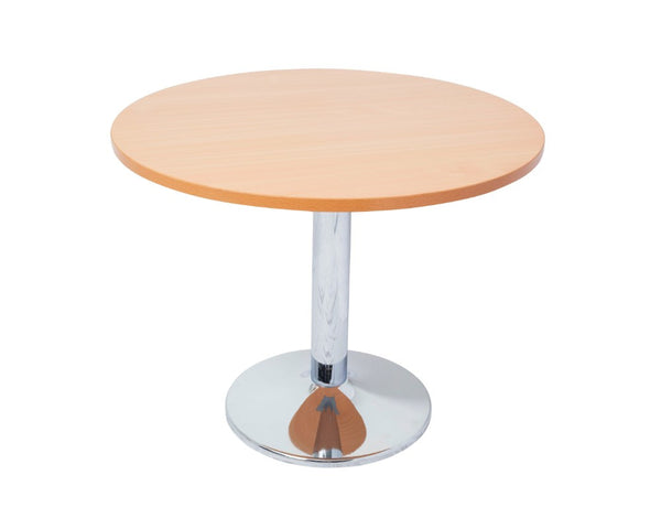 Rapidline Rapid Span Round Meeting Table Beech and Chrome Meeting Tables Dunn Furniture - Online Office Furniture for Brisbane Sydney Melbourne Canberra Adelaide