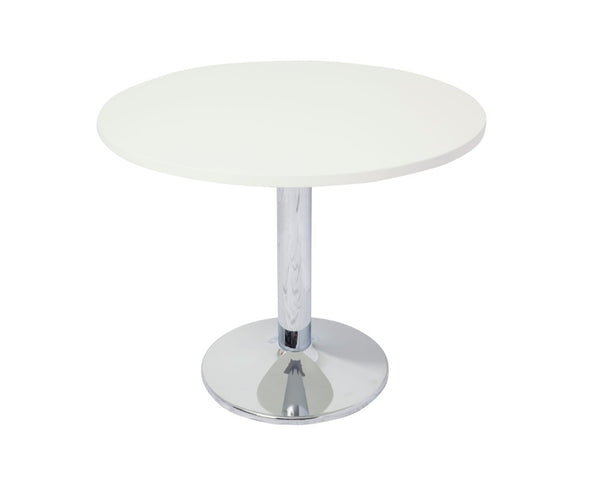 Rapidline Rapid Span Round Meeting Table White and Chrome Meeting Tables Dunn Furniture - Online Office Furniture for Brisbane Sydney Melbourne Canberra Adelaide