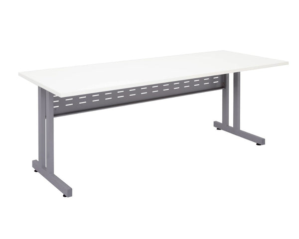 Rapidline Rapid Span Desk with C-Leg White Computer Desks Dunn Furniture - Online Office Furniture for Brisbane Sydney Melbourne Canberra Adelaide