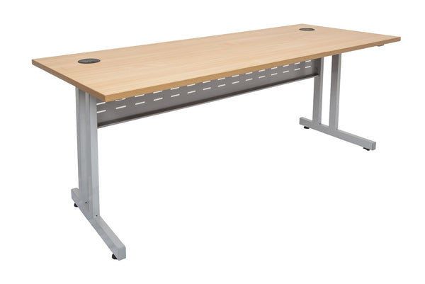 Rapidline rapid span desk with c leg beech dunn furniture Timber home office furniture brisbane