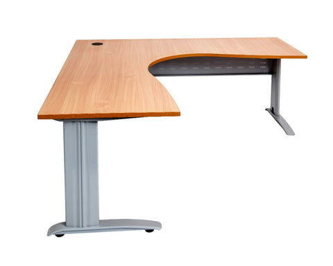 Rapidline Rapid Span Corner Workstation Beech With Silver