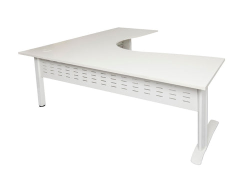 Rapidline Rapid Span Corner Workstation White with White Frame Computer Desks Dunn Furniture - Online Office Furniture for Brisbane Sydney Melbourne Canberra Adelaide