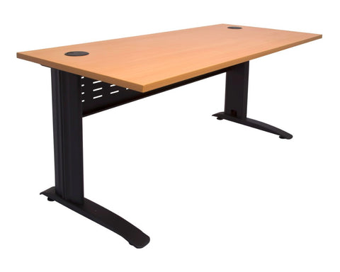 Rapidline Rapid Span Desk Beech with Black Frame Computer Desks Dunn Furniture - Online Office Furniture for Brisbane Sydney Melbourne Canberra Adelaide
