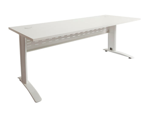Rapidline Rapid Span Desk in White with White Frame Computer Desks Dunn Furniture - Online Office Furniture for Brisbane Sydney Melbourne Canberra Adelaide