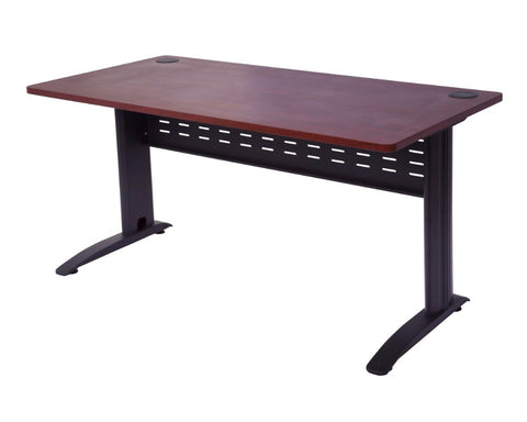 Rapidline Rapid Manager Desk - Appletree with Black Span Leg Computer Desks Dunn Furniture - Online Office Furniture for Brisbane Sydney Melbourne Canberra Adelaide