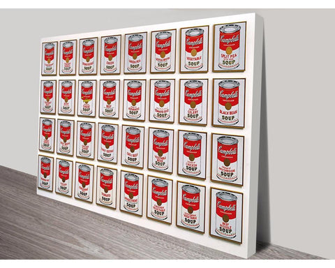 32 Cans Of Soup By Andy Warhol Wall Art Modern Art Dunn Furniture - Online Office Furniture for Brisbane Sydney Melbourne Canberra Adelaide