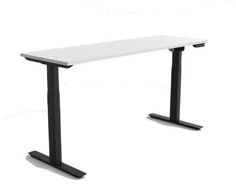 OLG Agile Electric Height Adjustable Desk Black Frame - 2 Column Standing Desks Dunn Furniture - Online Office Furniture for Brisbane Sydney Melbourne Canberra Adelaide