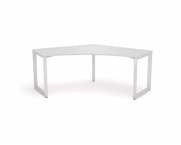 OLG Anvil 120 Degree Workstation White Frame Computer Desks Dunn Furniture - Online Office Furniture for Brisbane Sydney Melbourne Canberra Adelaide