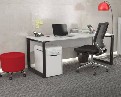 OLG Anvil Straightline Desk Black Frame Computer Desks Dunn Furniture - Online Office Furniture for Brisbane Sydney Melbourne Canberra Adelaide