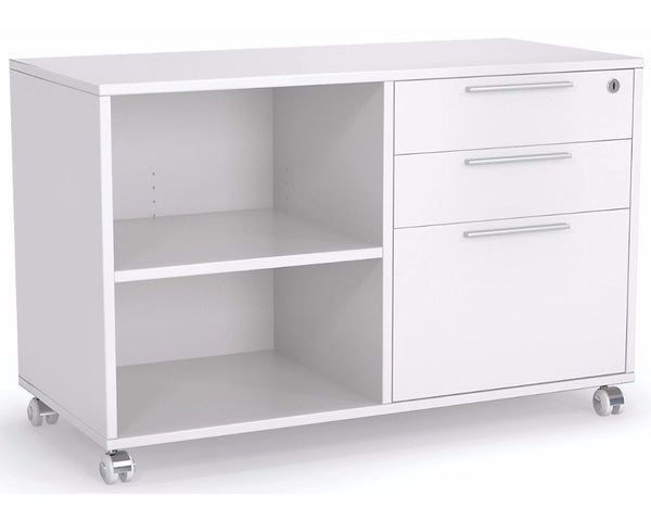 OLG Axis Caddy Mobile Bookcase with 1 Drawer Insert Mobile Storage Units Dunn Furniture - Online Office Furniture for Brisbane Sydney Melbourne Canberra Adelaide
