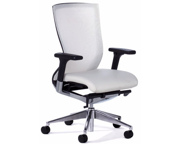 OLG Balance Executive Mesh Back Chair White Executive Chairs Dunn Furniture - Online Office Furniture for Brisbane Sydney Melbourne Canberra Adelaide