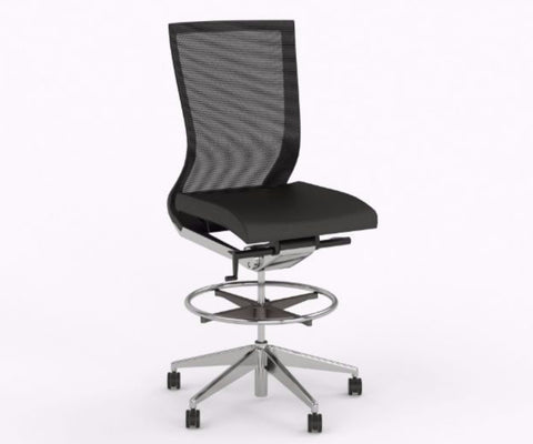 OLG Balance Executive Drafting Chair Black/White Task Chairs Dunn Furniture - Online Office Furniture for Brisbane Sydney Melbourne Canberra Adelaide