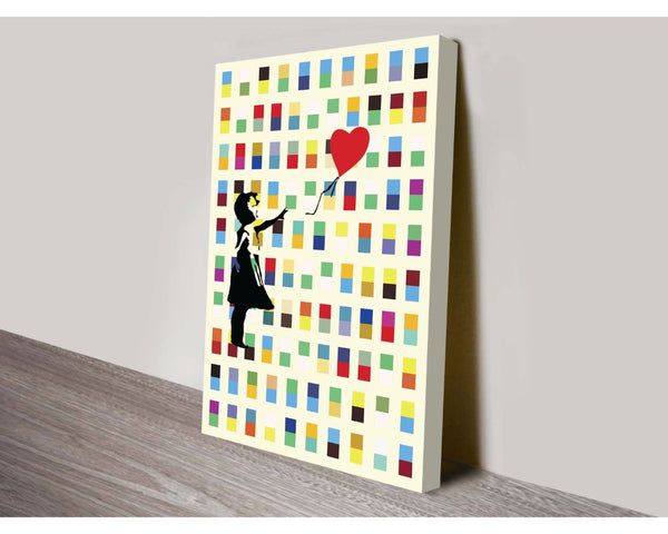 Balloon Girl In Retro By Banksy Wall Art Banksy Dunn Furniture - Online Office Furniture for Brisbane Sydney Melbourne Canberra Adelaide