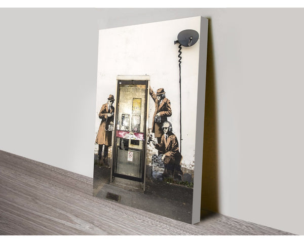 Spy Booth By Banksy Wall Art Banksy Dunn Furniture - Online Office Furniture for Brisbane Sydney Melbourne Canberra Adelaide