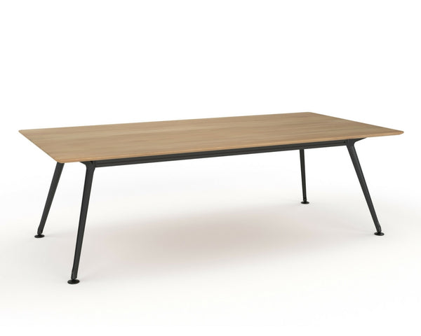 OLG Team Meeting Table Beech With Black Frame Meeting Tables Dunn Furniture - Online Office Furniture for Brisbane Sydney Melbourne Canberra Adelaide
