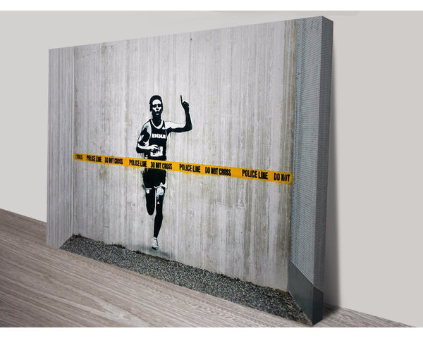 Police Line, Do Not Cross By Banksy Wall Art Banksy Dunn Furniture - Online Office Furniture for Brisbane Sydney Melbourne Canberra Adelaide