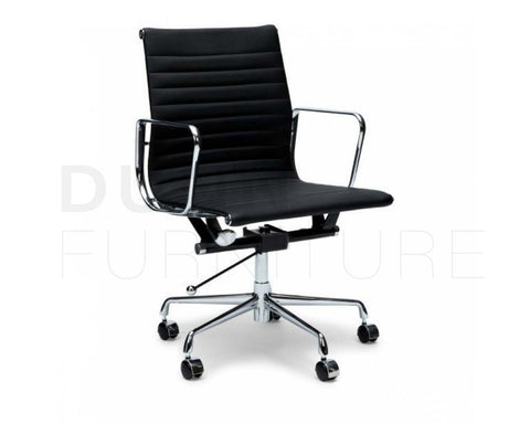 Management Leather Office Chair Eames Replica Black Task Chairs Dunn Furniture - Online Office Furniture for Brisbane Sydney Melbourne Canberra Adelaide