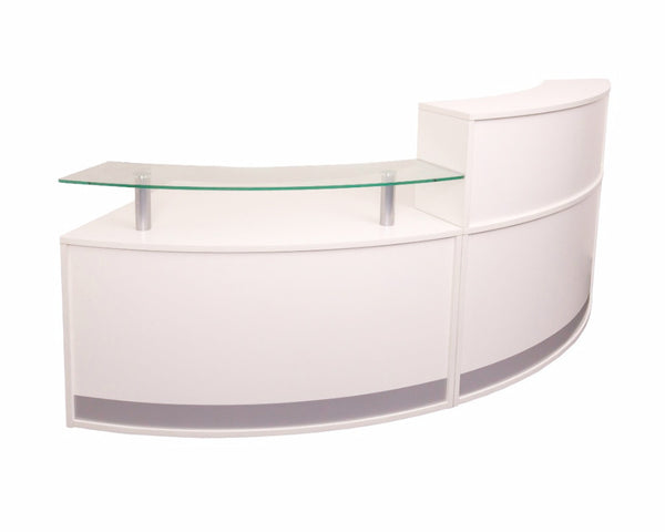 Rapidline Modular Round Reception Counter White Reception Dunn Furniture - Online Office Furniture for Brisbane Sydney Melbourne Canberra Adelaide