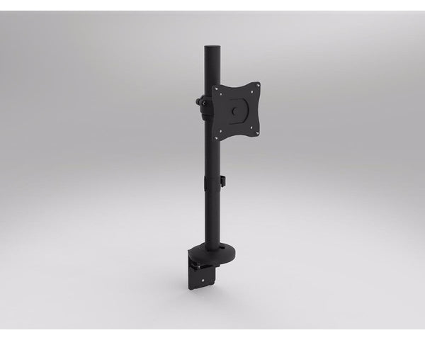 OLG Single Monitor Arm Black Powdercoat Accessories Dunn Furniture - Online Office Furniture for Brisbane Sydney Melbourne Canberra Adelaide