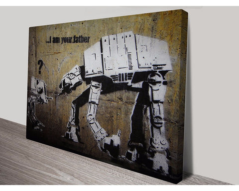 I Am Your Father By Banksy Wall Art Banksy Dunn Furniture - Online Office Furniture for Brisbane Sydney Melbourne Canberra Adelaide