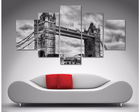 Tower Bridge London Black and White 5 Piece Diamond Shaped Wall Art 5 Piece Diamond Shaped Wall Art Dunn Furniture - Online Office Furniture for Brisbane Sydney Melbourne Canberra Adelaide